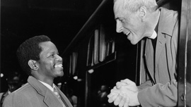 Oliver Tambo with Bishop Trevor Huddleston, London, 1960
