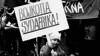 Boycott South Africa demonstration in Stockholm, Sweden, 1985