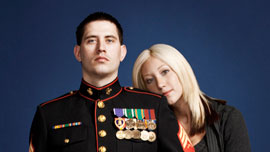 Sergeant Nathan Harris and Ashley Harris