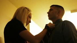 Ashley Harris and Sergeant Nathan Harris