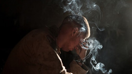 A Marine of Echo Company 2nd Battalion, 8th Marine Regiment