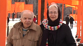 Herb and Dorothy at The Gates in Central Park, New York, 2005