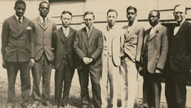 Melville J. Herskovits with colleagues