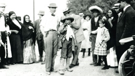 Young Melville Herskovits with Mexican revolutionaries