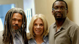 Vincent Brown, Christine Herbes-Sommers, Llewellyn Smith, filmmakers of Herskovits At The Heart Of Blackness