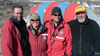 Left to Right: Dr. Adam Lewis, Kelly Gorz, Andrew Podoll and Dr. Allan Ashworth in front of their tent in the Dry Valleys of Antarctica