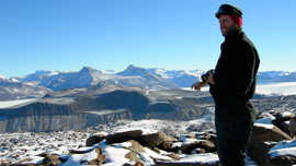 Dr. Adam Lewis in the Dry Valleys of Antarctica