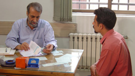 Merhrdad at his first meeting with at the kidney referral agency