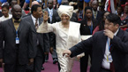 In 2006, she became the first woman elected president of an African nation.
