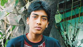 Azad, a young pickpocket from Kolkata, India