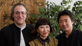 The opera's creators, librettist Amy Tan, composer Stewart Wallace, and stage director Chen Shi-Zheng.