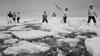 Narwhale hunters in Thule/Qaanaaq, Greenland