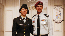 Captain Anastasia Breslow with her father