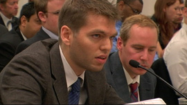 Kirk Johnson testifies at a Congressional Sub-Committee hearing.