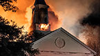 "January 2010: In the ""buckle of the Bible Belt,"" ten churches burn to the ground in just over a month, igniting the largest criminal investigation in East Texas history."