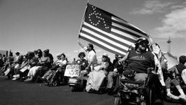 ADAPT protesters in Las Vegas, 1993