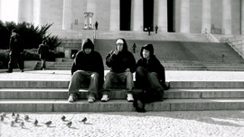 Nick Clark, Travis Tom and Cody Cayou in Washington, DC