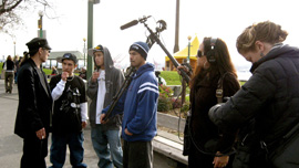 John Trudell, Cody Cayou, Travis Tom, Nick Clark, Annie Silverstein, and Tracy Rector