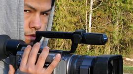 Nick Clark filming
