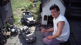 Mark Hogancamp at work in Marwencol