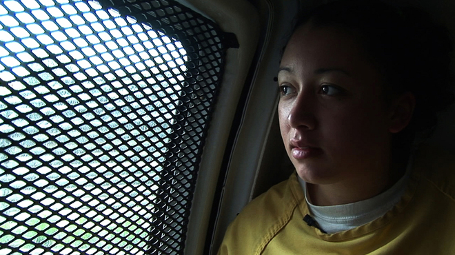 2006: Cyntoia rides to the courthouse during her criminal trial.