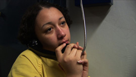 "2006: Cyntoia calls her adoptive mother, Ellenette Brown, to tell her she ""Got Life."""