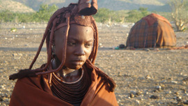Komungandjera Tjambiru, a Himba woman, Kunene Region, Namibia