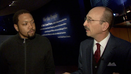 Director Shukree Tilghman with Dr. Steve Frank of the Philadelphia Constitution Center