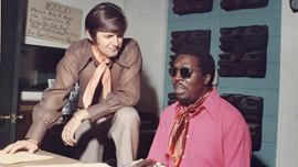 Rick Hall & Clarence Carter in Muscle Shoals.