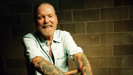 Gregg Allman in Muscle Shoals.