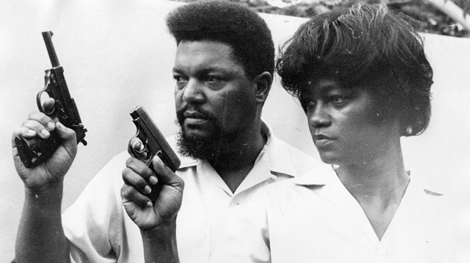Robert and Mabel Williams target practicing in Havana, Cuba