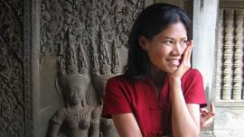 Socheata Poeuv at Angkor Wat