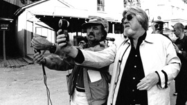 Vilmos Zsigmond and Laszlo Kovacs on the set