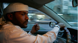 Abu Jandal behind the wheel.