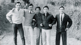 Nam Hoang with friends from the South Vietnamese Air Force