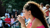 Priscilla Diaz aka P-Star performs at a Harlem street festival, age 9