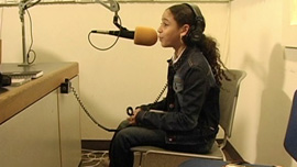 Priscilla Diaz aka P-Star on her first radio interview, age 9