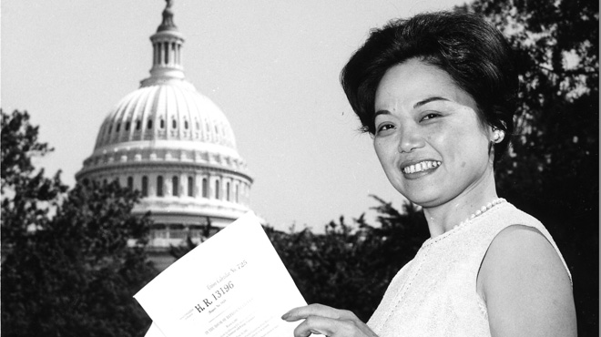 Still from <i>Patsy Mink: Ahead of the Majority</i>