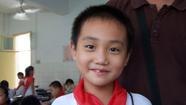 Luo Lei, candidate for Class Monitor, Wuhan Evergreen No. 1 Primary School