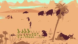 A scene from prehistoric times