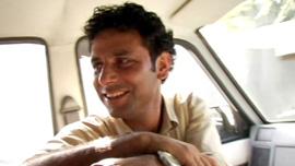 Reporter Muzamil Jaleel in Srinagar, Kashmir