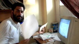 Human Rights Activist Khurram Parvez at his office in Kashmir