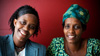 Rose and Nangabire are photographed for the 2009 UNHCR Humanitarian of the Year Awards.