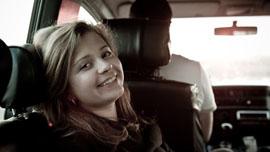 Masha on her way to Nashi Camp
