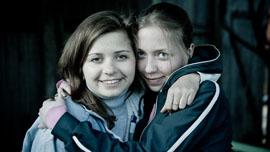 Masha with her sister Vigga