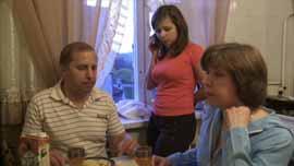 Masha with parents