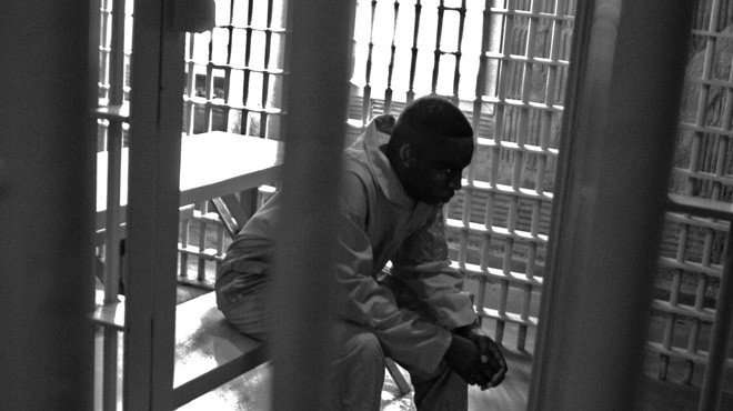 Jail cell, Derek Luke