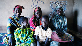 Arbai Barre Abdi and family at Kakuma Refugee Camp, Kenya