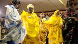 Arbai dancing at Khadija's Wedding