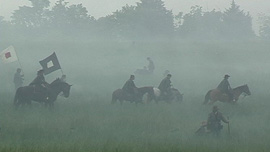Army In Battle Loreta Velazquez' first battle experience was at Bull Run, recreation.